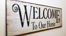 cartello di benvenuto per il check-in